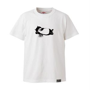 【Tシャツ】ネコおっさん ゴロ寝