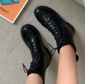 Retro design lace up boots LD0445