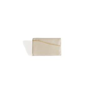 【袋果 NEWカードケース / ホワイト】外ポケットが便利な名刺入れ