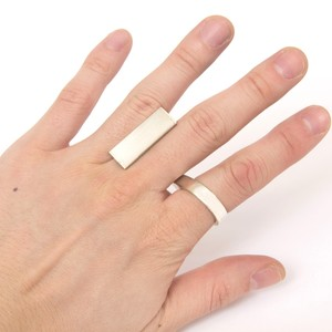 oblong ring silver