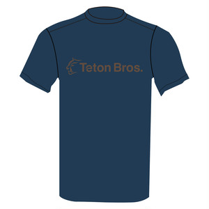 TetonBros.(ティートンブロス) Men's Standard Logo T Navy