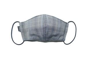 【新作夏用マスク 吸水速乾COOLMAX使用 日本製】グレンチェックマスクTypeA
