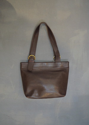 Old COACH Leather Tote Bag / Made in Costa Rica [B-207]