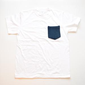 ビンテージ 藍染 剣道着 リメイク ポケットTシャツ S-XL