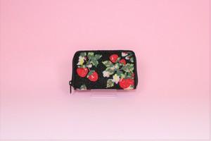 ビーズ刺繍 財布 (#99 いちご)