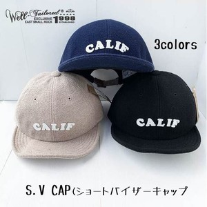 """CALIF""ロゴ  ショートバイザーキャップ 【Well‐Tailored】"