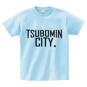 TSUBOMIN / TSUBOMIN CITY T-SHIRT LIGHT-BLUE