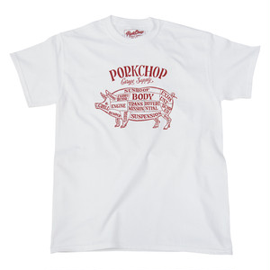 PORK FRONT TEE/WHITE×RED