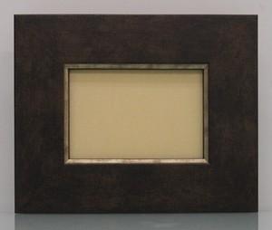 キャンバス寸法100mm×70mm×20mmが入る額縁16-3054茶額縁寸法105mm×75mm窓枠寸法91mm×61mmアクリル/エコスペース付き/箱付き完品