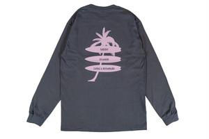 【palm tree long sleeve】/ charcoal