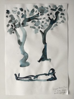 Painting 1【Slower than a tree.】