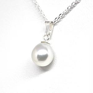 あこや本真珠のしずくのネックレスAC
