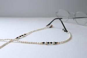 眼鏡リード(淡水パール、あこや本真珠)