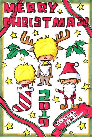 原画ポストカード「MERRY CHRISTMAS!」