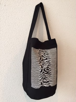 "ONE SHOULDER TUBE TOTE ""BLACK"""