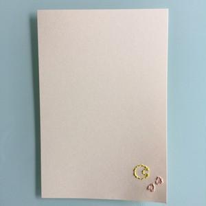 刺繍ポストカード(夜桜)