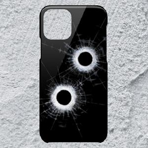 【iPhone11Pro対応】弾痕ハードケース*ストリート×かっこいい