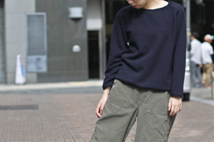 【maillot】wool sweat trainer col.NVY