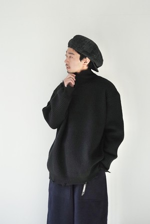 【BOTTLES】OI-N002 DAMAGE KNIT H/N