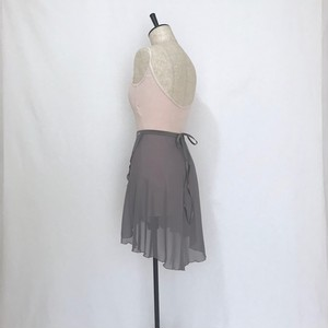 "◇""Tatiana"" Ballet Wrap Skirt - Shadow Gray [Sheer]( シャドウ・グレイ [シアー])"