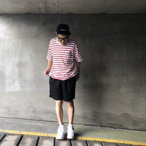 BORDER Pocket TEE (WHITE x RED)