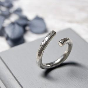 シルバーラウンドプレーンリング フリーサイズ 3.0mm幅 鎚目 3号~27号|WKS  ROUND PLANE RING FREESIZE 3.0 sv hammer finish|SILVER950 銀 指輪 FA-238