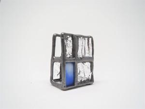 ガラスのカードホルダー(小)Blue
