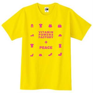 PEACE Tシャツ イエロー