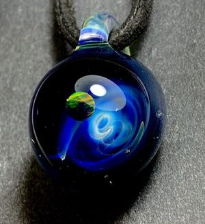 blue cosmo opal pendant