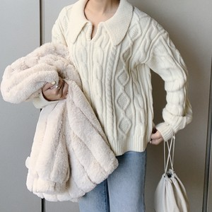ME6247 Collar Cable Knit