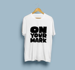 ON YOUR MARK Tシャツ(ホワイト)