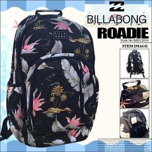 BB013924 ビラボン 撥水バックパック リュック レディース 通販 人気 ブランド 通勤 通学 旅行 おしゃれ かわいい 黒 ボタニカル柄 大容量 BILLABONG