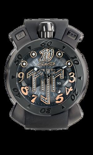 【GaGa MILANO】8012.NJ.01/Chrono 48MM 限定ネイマールモデルクロノグラフ/国内正規品 腕時計