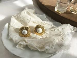 【Mimi 対応】Bouton pierced earrings  ー Radial ー