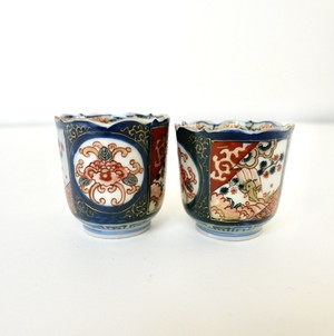 [NO.911] 伊万里 ちょく 大明年製 江戸 / Imari Sake Cup Small / Edo Era