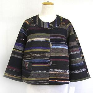 裂き織り ショートジャケット【ミセス・モトコ】