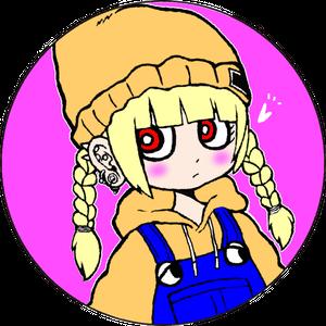 三つ編みちゃん缶バッジ(57mm)