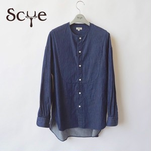 SCYE/サイ・Denim Collarless Shirt