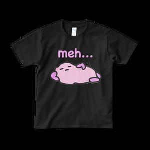 ファジー meh... Tシャツ (黒)