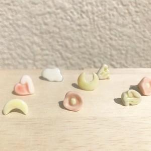 陶器製 片耳ピアス