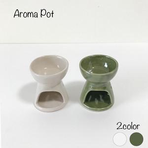 陶器のアロマポット アロマキャンドル キャンドルホルダー