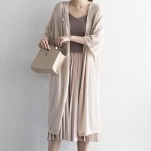 【アウター】春夏ファッション透かし彫り七分袖透視感カーディガン18121732