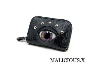eye card case / violet marble