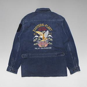 POLO RalphLauren ポロ・ラルフローレン CPOデニムシャツジャケット スカジャン調刺繍デザイン 定価288ドル