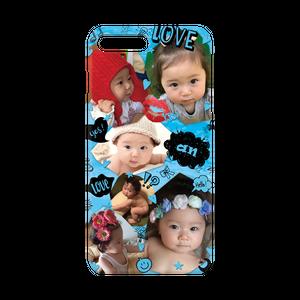 iPhone・Android Mサイズ トリミングハードケース color:ブルー
