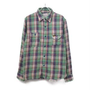 Pherrow's / フェローズ   ライトウェイトチェックネルシャツワークシャツ   36   グリーン