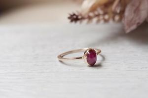 K10YG Colore ring「スタールビー」