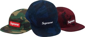 Supreme Camo Wool Camp Cap