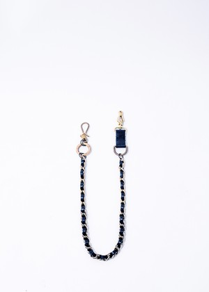 drehen wallet chain navy/brass