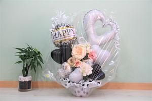 結婚式やお誕生日のお祝いに卓上バルーンギフトZ(バルーンアレンジ) 送料込み 引き取りの場合7,000円
